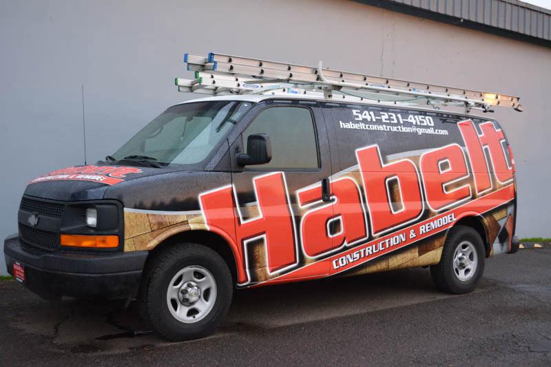 Habelt Construction Vehicle Wrap by Xtreme Grafx in Albany, Oregon