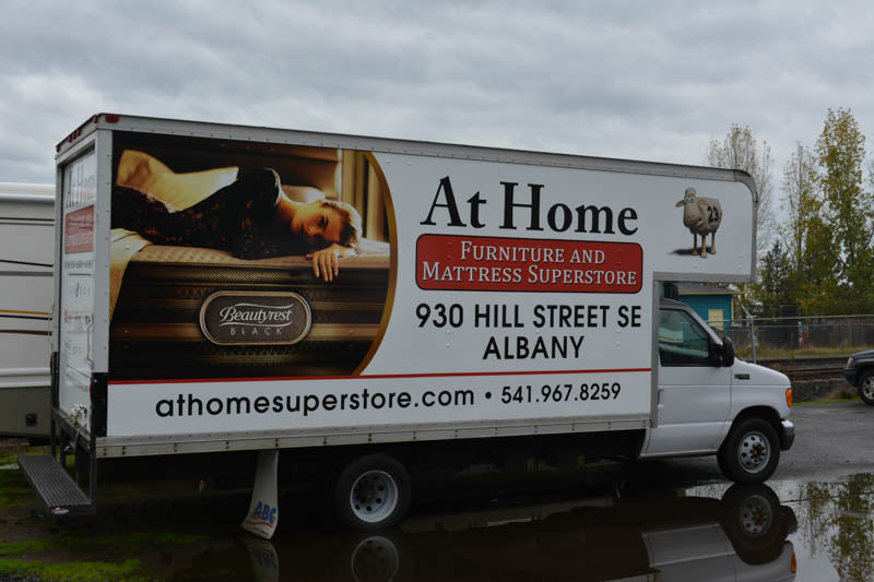 At Home Superstore Vehicle Wrap by Xtreme Grafx in Albany, Oregon