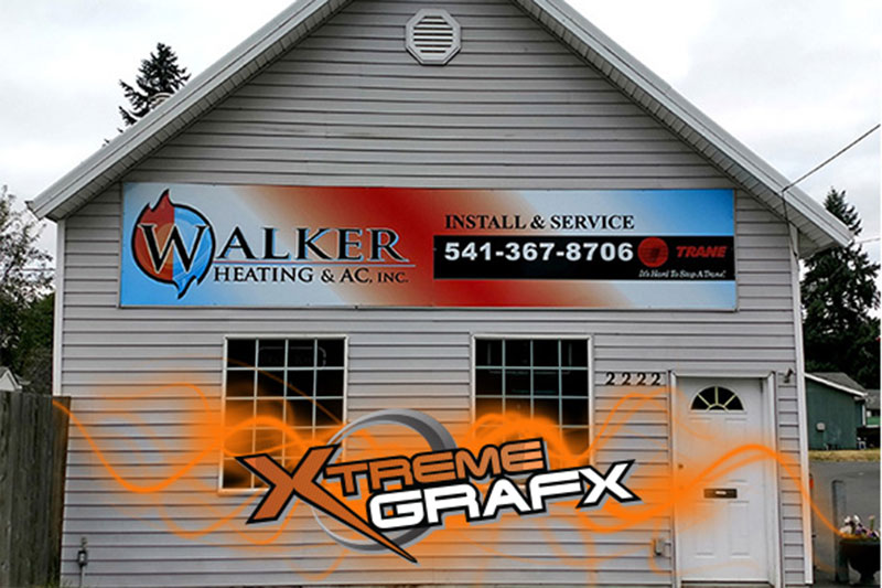 Walker Heating Sign at Xtreme Grafx in Albany, Oregon