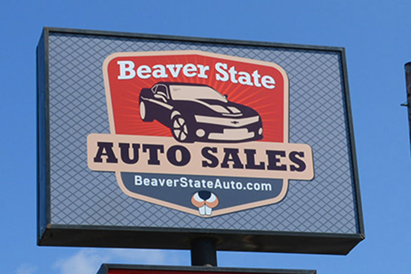 Beaver State Illuminated Sign at Xtreme Grafx in Albany, Oregon