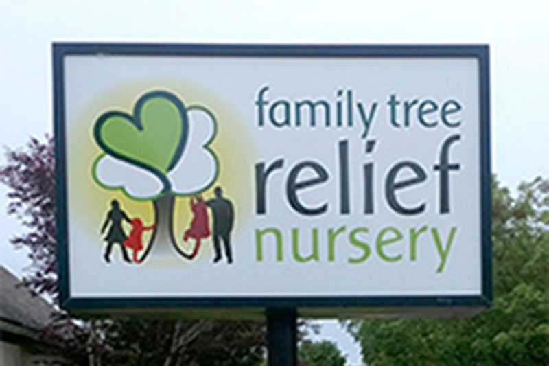 Family Tree Relief Nursery Illuminated Sign at Xtreme Grafx in Albany, Oregon